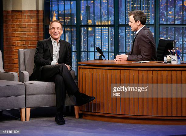 Actor Tony Danza during an interview with host Seth Meyers on January 12 2015