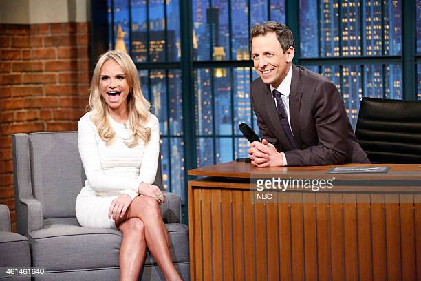 Actress Kristin Chenoweth during an interview with host Seth Meyers on January 12 2015