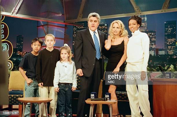 Kid inventors Actress Pamela Anderson Lee Musical guest Monica onstage November 10 1998