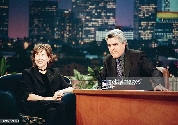 Actress Annette Bening during an interview with host Jay Leno on November 11 1998