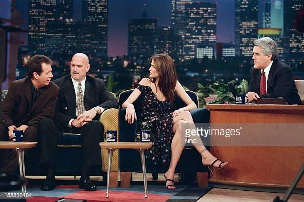 Comedian Garry Shandling Former wrestler Jesse Ventura Model Stephanie Seymour during an interview with host Jay Leno on November 17 1998