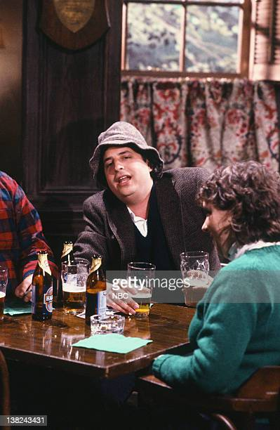 LIVE Episode 15 Air Date Pictured Jon Lovitz as Paddy O'Reilly O'Schoenberg during the 'Irish Drinking Songs' skit on March 17 1990