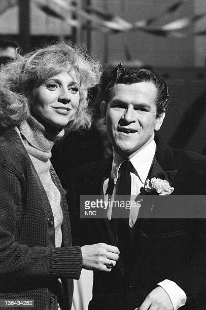 LIVE Episode 15 Aired Pictured Blythe Danner Tim Kazurinsky during the '1982 Senior Spring Fling' skit on March 27 1982