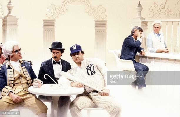 Brad Hall as George Washington Gary Kroeger as Charlie Chaplin Jim Belushi as Babe Ruth Billy Crystal as John F Kennedy and Joe Piscopo as St Peter...