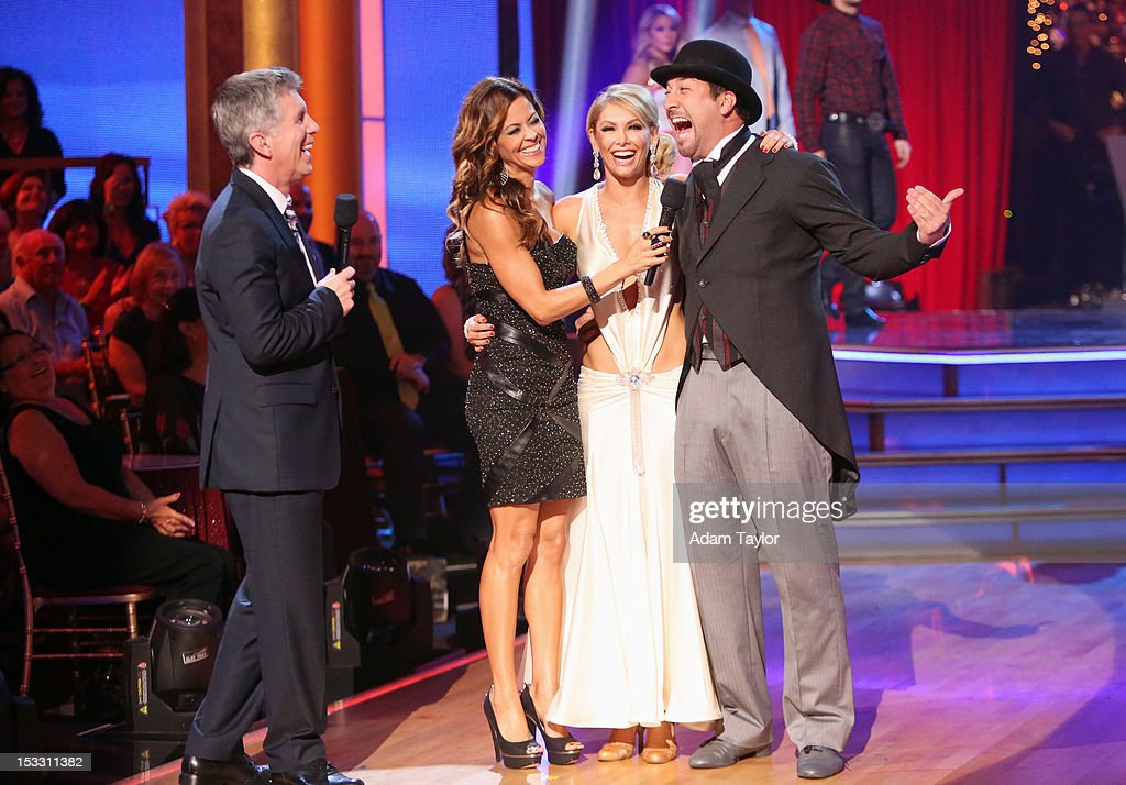 SHOW 'Episode 1502A' Joey Fatone and Kym Johnson became the second couple eliminated on the 'Dancing with the Stars AllStars The Results Show'...