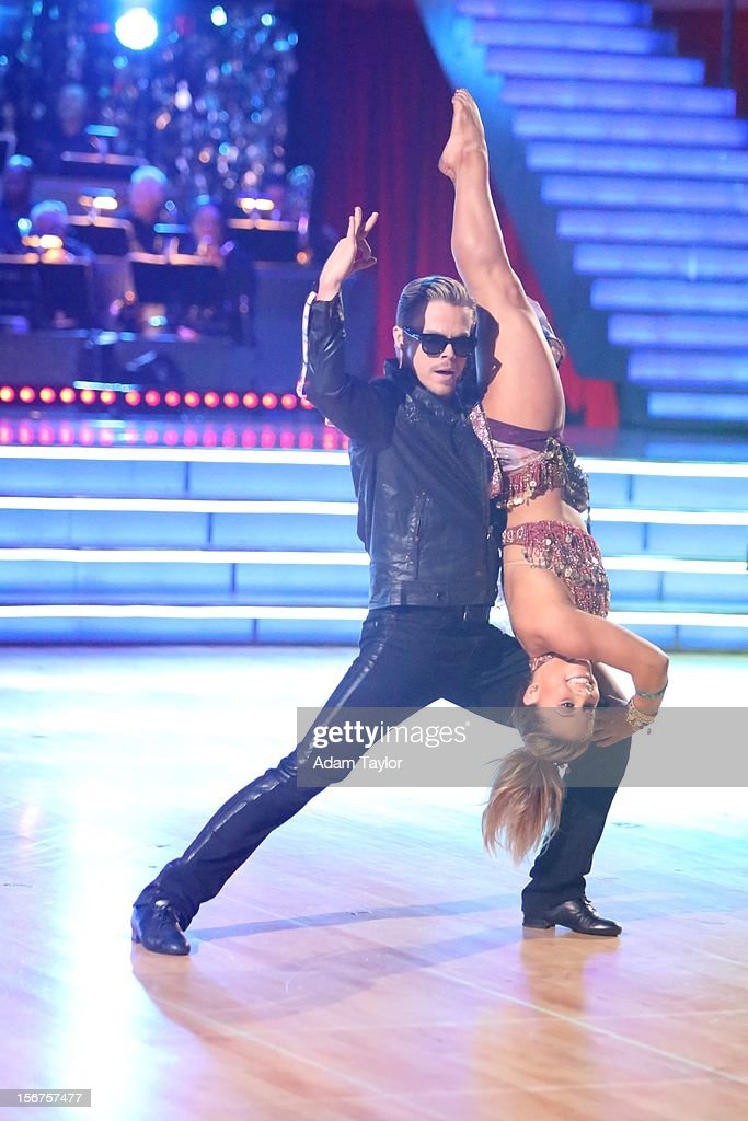 ALL-STARS - 'Episode 1509' - Each couple danced a dance style they have not yet danced to a theme which was chosen for them by another couple on last week's Results Show, on 'Dancing with the Stars: All-Stars' MONDAY, NOVEMBER 19 (8:00-10:01 p.m., ET), on ABC. (Adam Taylor ABC/ via Getty Images)DEREK HOUGH, SHAWN JOHNSON