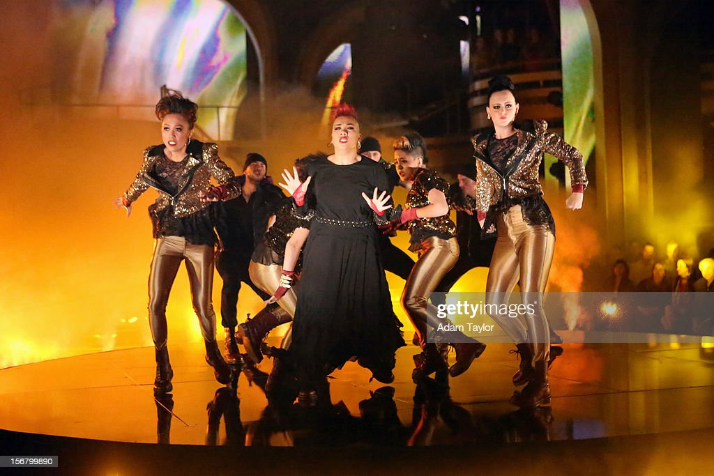 SHOW - 'Episode 1509A' - In the final 'AT&T Spotlight Performance,' 21-year old Parris Goebel hit the 'DWTS' ballroom on with her dance crew from New Zealand, The ReQuest Crew, for an unforgettable performance, on 'Dancing with the Stars: All-Stars -- The Results Show,' TUESDAY, NOVEMBER 20 (8:00-9:01 p.m., ET), on ABC. PARRIS