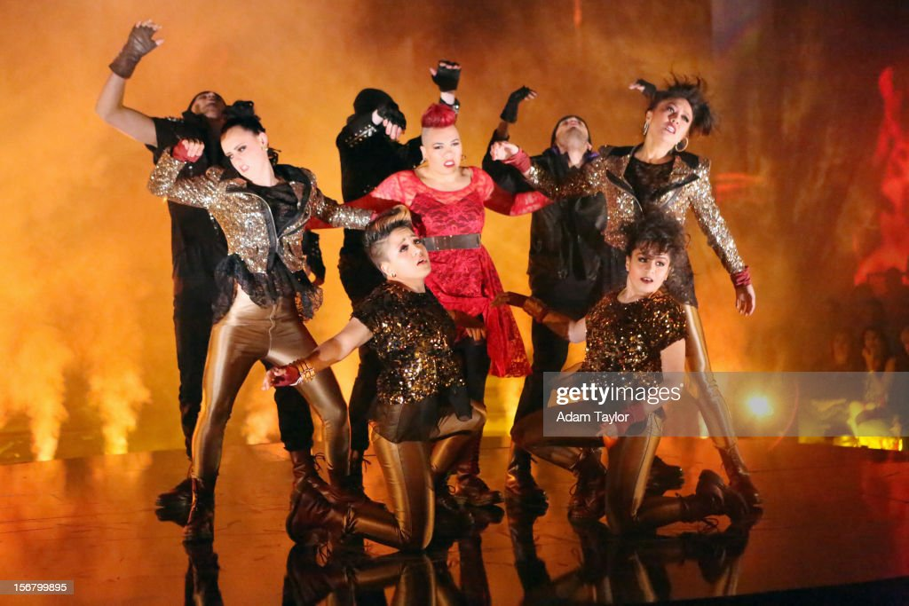 SHOW 'Episode 1509A' In the final 'ATT Spotlight Performance' 21year old Parris Goebel hit the 'DWTS' ballroom on with her dance crew from New...