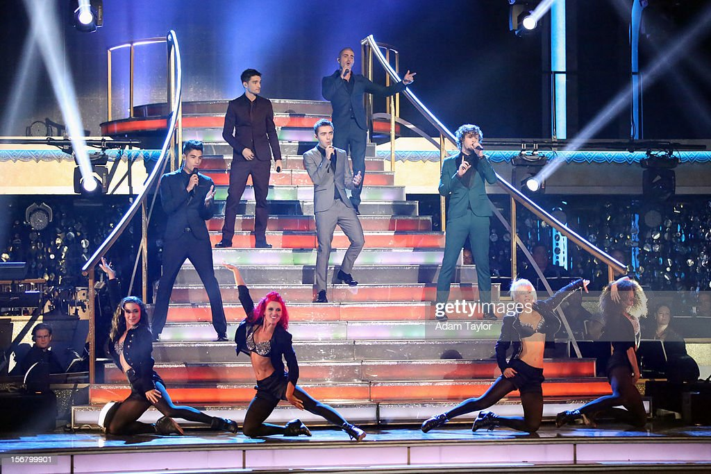 SHOW - 'Episode 1509A' - The UK's new boyband sensation, The Wanted, performed a medley of their current single 'I Found You' and their biggest hit, 'Glad You Came,' on 'Dancing with the Stars: All-Stars -- The Results Show,' TUESDAY, NOVEMBER 20 (8:00-9:01 p.m., ET), on ABC. (Adam Taylor ABC/ via Getty Images) THE WANTED