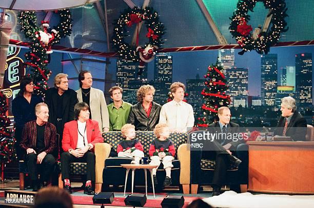 Chicago's Tris Imboden Bill Champlin Lee Loughnane Keith Howland Jason Scheff Robert Lamm Chicago's James Pankow Walter Parazaider twins Adam and Sam...