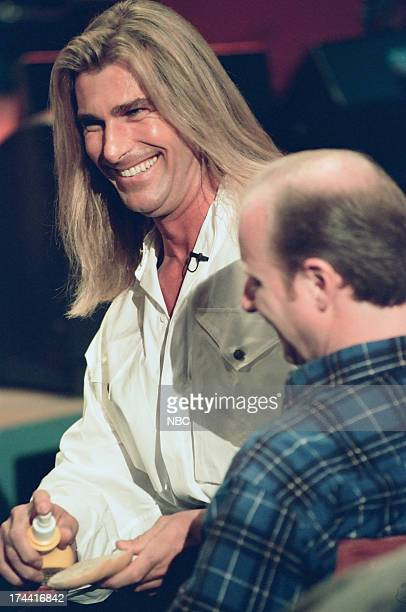 Fabio audience member during an 'I Can't Believe It's Not Butter' walkon skit February 4 1999