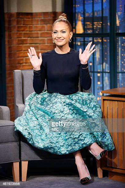 Actress/musician Jennifer Lopez during an interview on January 21 2015