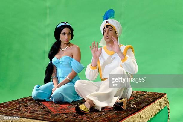 LIVE 'Episode 1544' Pictured Rosario Dawson as Jasmine Jason Sudeikis as Aladdin during the 'Aladdin Anniversary' skit on January 17 2009