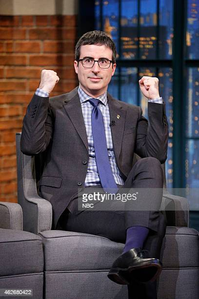 Comedian John Oliver during an interview on February 2 2014