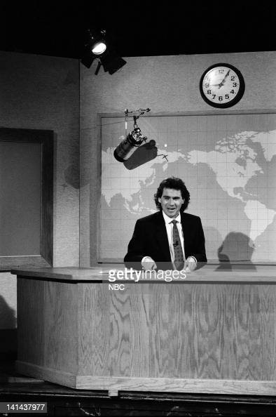 Dennis Miller during the 'Weekend Update' skit on March 24 1990 Photo by Raymond Bonar/NBC/NBCU Photo Bank