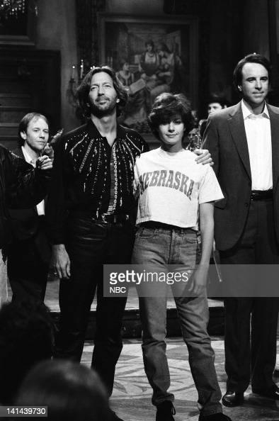 Eric Clapton Debra Winger Kevin Nealon on March 24 1990 Photo by Raymond Bonar/NBC/NBCU Photo Bank