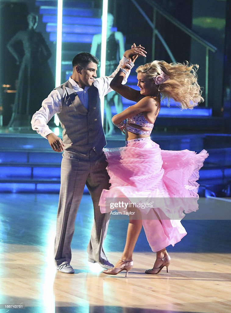 STARS - 'Episode 1605' - Nine remaining couples hit the dance floor and faced an exciting new challenge MONDAY, APRIL 15 (8:00-10:01 p.m., ET). In another first for 'Dancing with the Stars,' a new twist called 'Len's Side By Side Challenge' tasked each couple to perform a portion of their individual dance alongside a pro dance couple. VICTOR