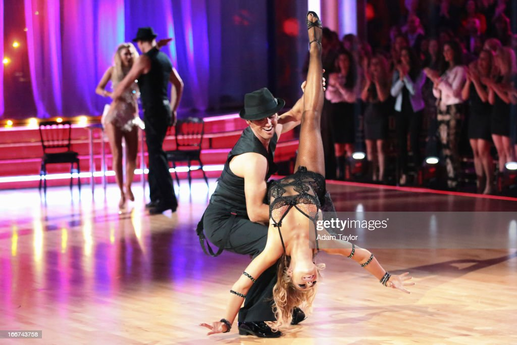 STARS - 'Episode 1605' - Nine remaining couples hit the dance floor and faced an exciting new challenge MONDAY, APRIL 15 (8:00-10:01 p.m., ET). In another first for 'Dancing with the Stars,' a new twist called 'Len's Side By Side Challenge' tasked each couple to perform a portion of their individual dance alongside a pro dance couple. KYM
