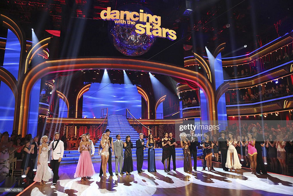 STARS - 'Episode 1605' - Nine remaining couples hit the dance floor and faced an exciting new challenge MONDAY, APRIL 15 (8:00-10:01 p.m., ET). In another first for 'Dancing with the Stars,' a new twist called 'Len's Side By Side Challenge' tasked each couple to perform a portion of their individual dance alongside a pro dance couple. JONES
