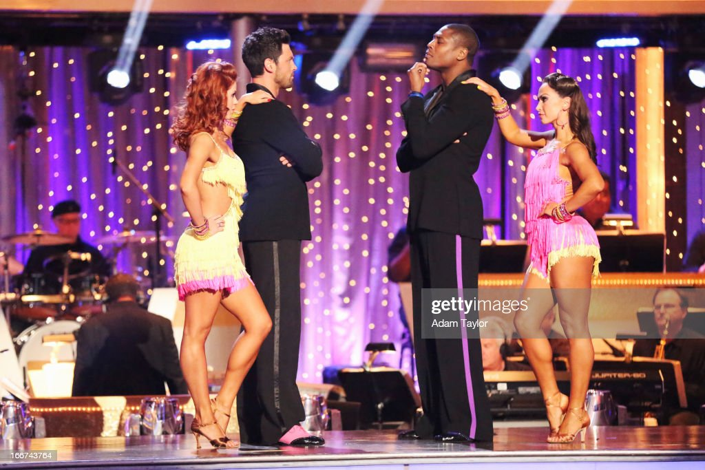 STARS - 'Episode 1605' - Nine remaining couples hit the dance floor and faced an exciting new challenge MONDAY, APRIL 15 (8:00-10:01 p.m., ET). In another first for 'Dancing with the Stars,' a new twist called 'Len's Side By Side Challenge' tasked each couple to perform a portion of their individual dance alongside a pro dance couple. ANNA