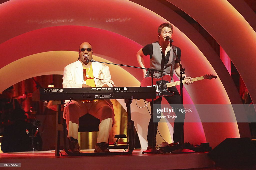 STARS - 'Episode 1606' - Special guest country superstar Hunter Hayes performed with Stevie Wonder in a spectacular opening performance, on 'Dancing with the Stars,' MONDAY, APRIL 22 (8:00-10:01 p.m., ET), on ABC.