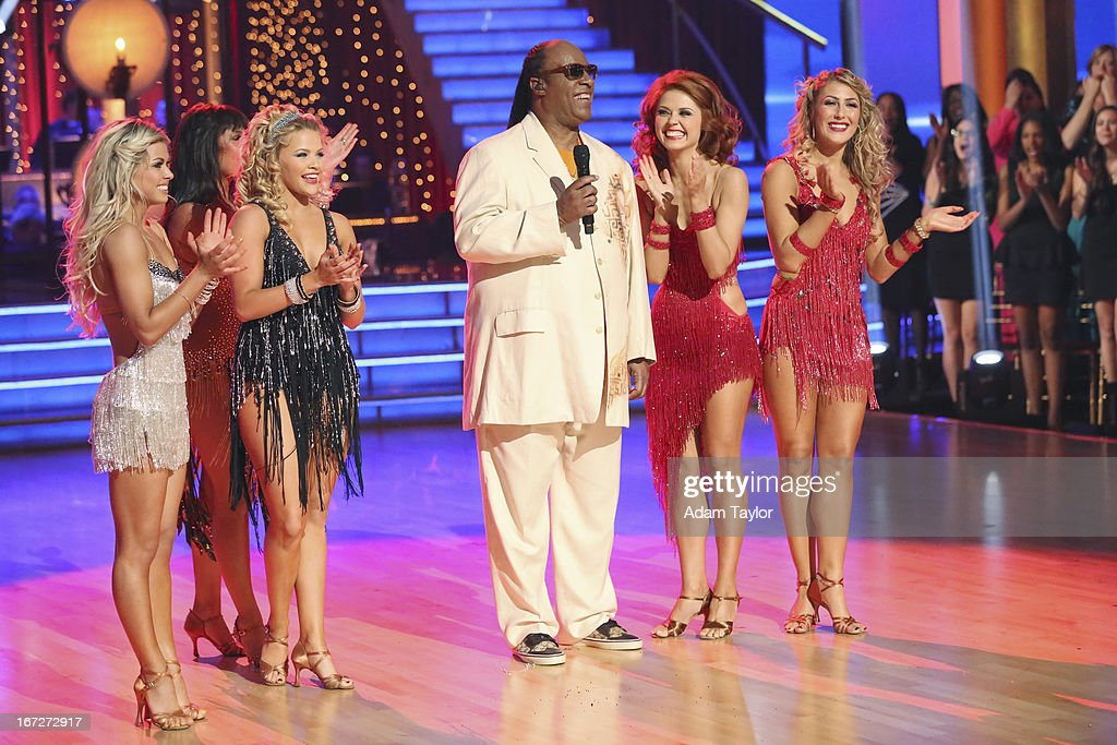 STARS - 'Episode 1606' - Stevie Wonder took over the ballroom as 'Dancing with the Stars' devoted, for the first time, an entire evening to one artist. He performed some of his classic songs, including 'Sir Duke' and 'My Cherie Amour,' and the celebrities danced to his greatest hits, including 'I Just Called to Say I Love You,' 'For Once in My Life' and 'Signed, Sealed, Delivered (I'm Yours),' on 'Dancing with the Stars,' MONDAY, APRIL 22 (8:00-10:01 p.m., ET), on ABC. SLATER