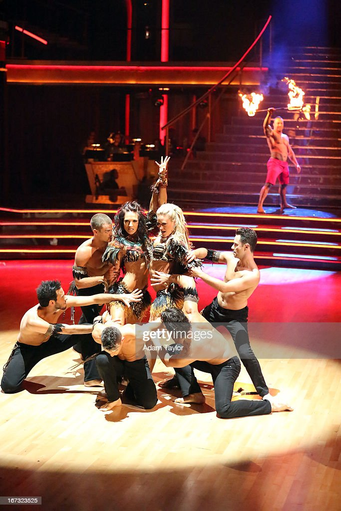 SHOW - 'Episode 1606A' - Choreographed by Henry Byalikov, the professional dancers entertained the audience with a preview performance in anticipation of next week's Latin week, on 'Dancing with the Stars the Results Show,' TUESDAY, APRIL 23 (9:00-10:01 p.m., ET), on ABC. JAMYZ