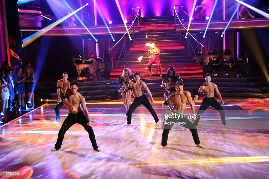 SHOW - 'Episode 1606A' - Choreographed by Henry Byalikov, the professional dancers entertained the audience with a preview performance in anticipation of next week's Latin week, on 'Dancing with the Stars the Results Show,' TUESDAY, APRIL 23 (9:00-10:01 p.m., ET), on ABC. FARBER