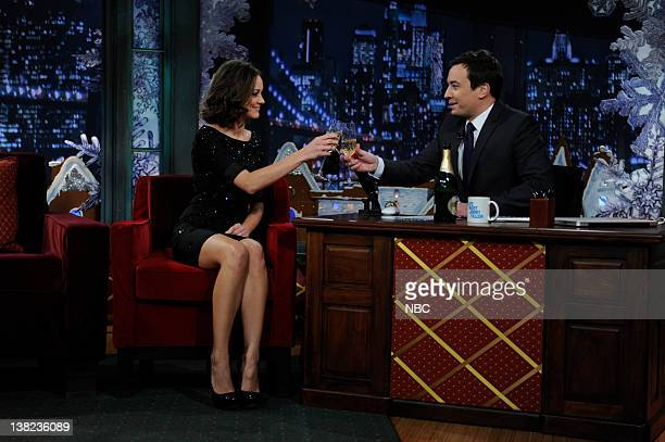 FALLON Episode 166 Airdate Pictured Marion Cotillard during an interview with Jimmy Fallon on December 15 2009