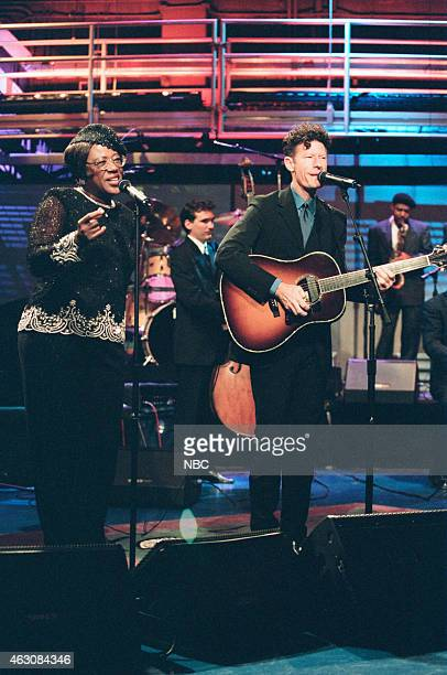 Musical guests Francine Reed Lyle Lovett and his Big Band perform on August 12 1999