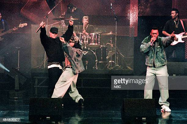 Mark Walberg of 'Marky Mark and the Funky Bunch' performs on February 11 1993