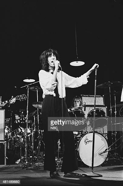 LIVE Episode 17 Air Date Pictured Patti Smith of musical guest The Patti Smith Group performs on April 17 1976