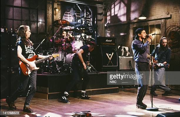 Musical guests Pearl Jam perform on April 11 1992 Photo by Alan Singer/NBCU Photo Bank