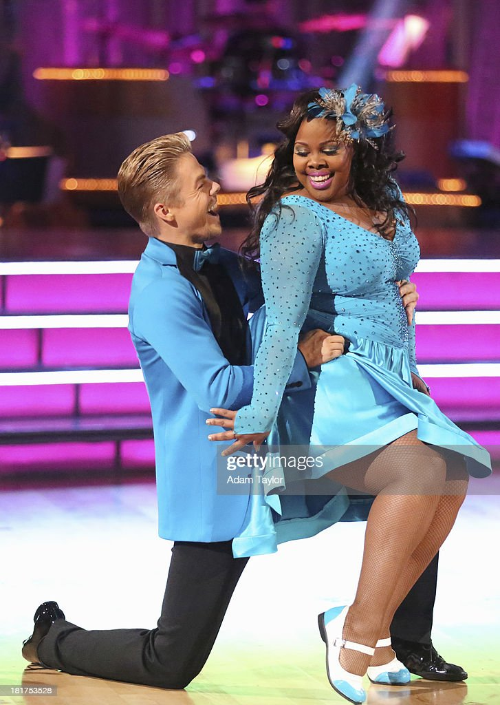 STARS - 'Episode 1702' - The competition heated up on a Latin-themed 'Dancing with the Stars' as the celebrities took on new dance routines - a Samba, Jive, Rumba or Paso - and fought for survival, MONDAY, SEPTEMBER 23 (8:00-10:01 p.m., ET), on the ABC Television Network. (Photo by Adam Taylor / ABC Via Getty Images)DEREK HOUGH, AMBER RILEY