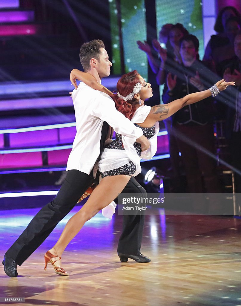 STARS - 'Episode 1702' - The competition heated up on a Latin-themed 'Dancing with the Stars' as the celebrities took on new dance routines - a Samba, Jive, Rumba or Paso - and fought for survival, MONDAY, SEPTEMBER 23 (8:00-10:01 p.m., ET), on the ABC Television Network. SASHA FARBER, NICOLE 'SNOOOKI' POLIZZI