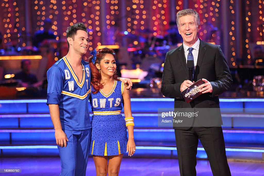 STARS - 'Episode 1704' - 10 remaining couples took to the ballroom floor on 'Dancing with the Stars,' MONDAY, OCTOBER 7 SASHA FARBER, NICOLE 'SNOOKI' POLIZZI, TOM