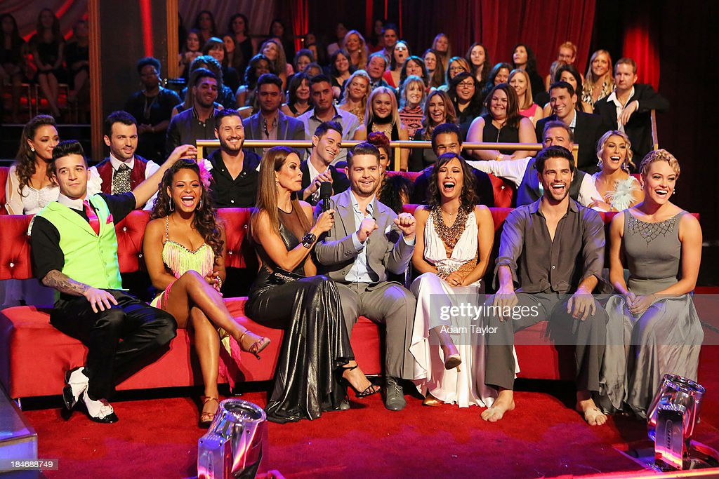 STARS - 'Episode 1705' - The competition continued as nine remaining celebrities commemorated 'The Most Memorable Year of Their Life' on 'Dancing with the Stars,' MONDAY, OCTOBER 14 (8:00-10:01 p.m., ET), on ABC. Each couple danced to a song of the celebrities choosing that encompassed a memorable time or experience in their life. LEAH REMINI, MARK BALLAS, TONY DOVOLANI, CHRISTINA MILIAN, VAL CHMERKOVSKIY, BROOKE BURKE-CHARVET, SASHA FARBER, JACK OSBOURNE, NICOLE 'SNOOKI' POLIZZI (OBSCURED), CHERYL