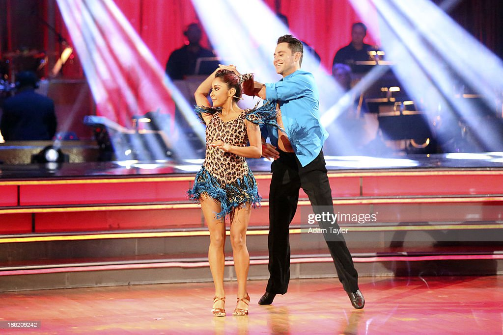 STARS - 'Episode 1707' - The competition continued as eight remaining celebrities performed two new routines on 'Dancing with the Stars,' MONDAY, OCTOBER 28 (8:00-10:01 p.m., ET). The night began with a spectacular opening number choreographed by Emmy Nominated choreographer, Mandy Moore. The competition was then split into two rounds. In the first round, each couple took on a dance style they have not been previously performed including the Salsa, Quickstep, Samba, Cha Cha, Paso Doble, and Jive. In the second round, the cast danced together in two separate teams, with each couple having a featured solo. NICOLE 'SNOOKI' POLIZZI, SASHA