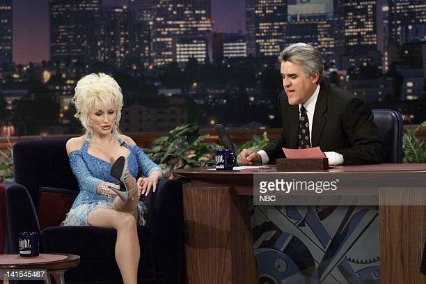 Musical guest Dolly Parton during an interview with host Jay Leno on November 2 1999 Photo by NBC/NBCU Photo Bank