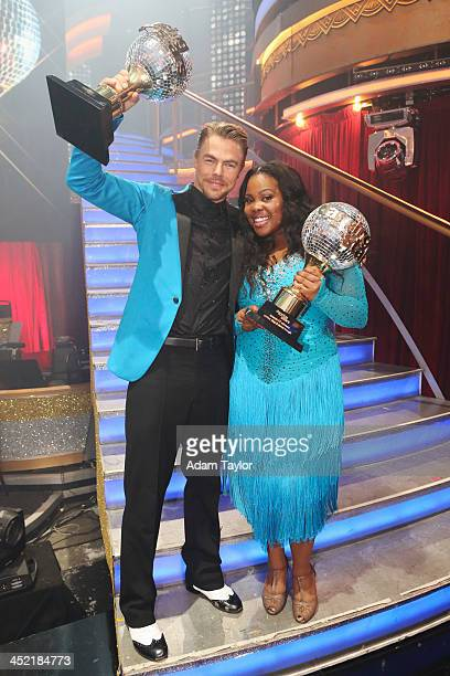 STARS 'Episode 1711A' Amber Riley and Derek Hough were crowned Season 17 Champions and awarded the coveted Mirror Ball Trophy on the twohour Season...