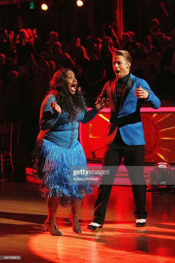 STARS - 'Episode 1711A' - Amber Riley and Derek Hough were crowned Season 17 Champions and awarded the coveted Mirror Ball Trophy, on the two-hour Season Finale on 'Dancing with the Stars,' TUESDAY, NOVEMBER 26 (9:00-11:00 p.m., ET), on ABC. HOUGH