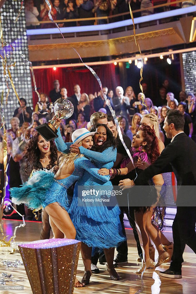 STARS - 'Episode 1711A' - Amber Riley and Derek Hough were crowned Season 17 Champions and awarded the coveted Mirror Ball Trophy, on the two-hour Season Finale on 'Dancing with the Stars,' TUESDAY, NOVEMBER 26 (9:00-11:00 p.m., ET), on ABC. , NICOLE 'SNOOKI' POLIZZI, PETA MURGATROYD (OBSCURED), SASHA FARBER