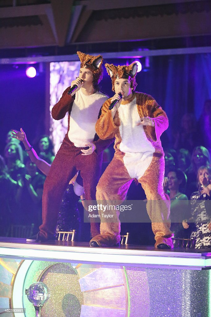 STARS - 'Episode 1711A' - Ylvis performed their hit single 'The Fox,' accompanied by select celebrity and pro dancers, on the two-hour Season Finale on 'Dancing with the Stars,' TUESDAY, NOVEMBER 26 (9:00-11:00 p.m., ET), on ABC. YLVIS