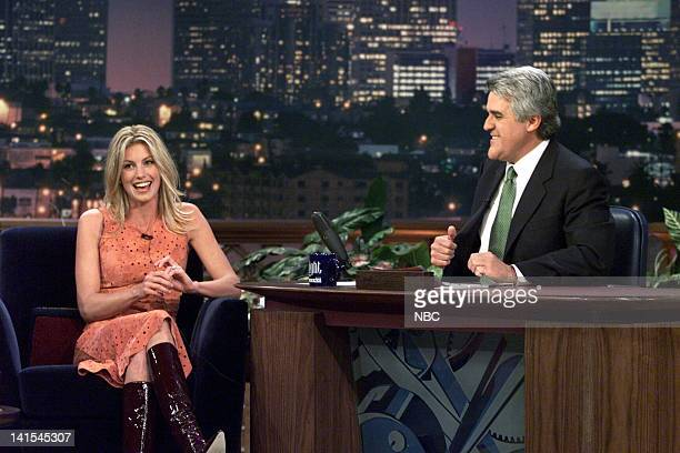Musical guest Faith Hill during an interview with host Jay Leno on November 11 1999 Photo by NBC/NBCU Photo Bank