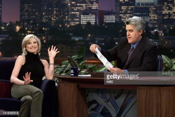 Actress Courtney ThorneSmith during an interview with host Jay Leno on November 12 1999 Photo by NBC/NBCU Photo Bank