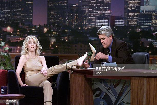 Actress Heather Locklear during an interview with host Jay Leno on November 19 1999 Photo by NBC/NBCU Photo Bank