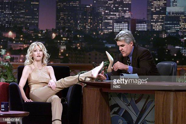 Actress Heather Locklear during an interview with host Jay Leno on November 19 1999