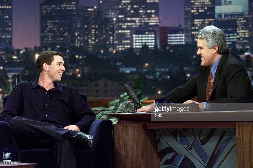 Golfer Sergio Garcia during an interview with host Jay Leno on November 24 1999 Photo by NBC/NBCU Photo Bank