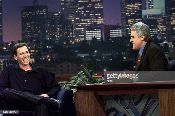Golfer Sergio Garcia during an interview with host Jay Leno on November 24 1999