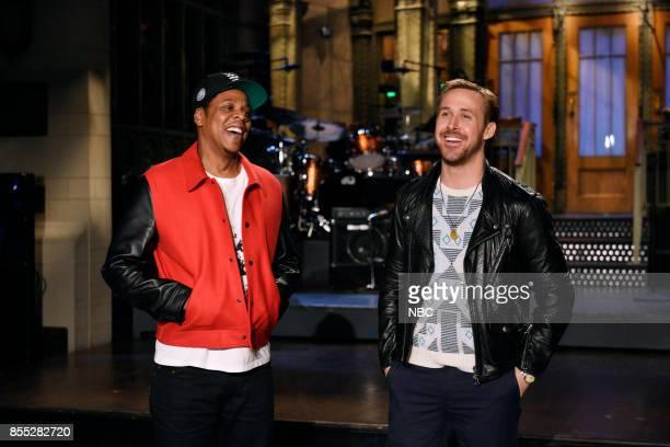Musical Guest JayZ with Host Ryan Gosling in Studio 8H on Thursday September 28 2017
